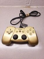Nintendo Wii NYKO Wing Wired Controller Gold Wii remote Attachment TESTED