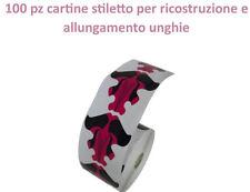 100 pz cartine stiletto per ricostruzione allungamento unghie nail art