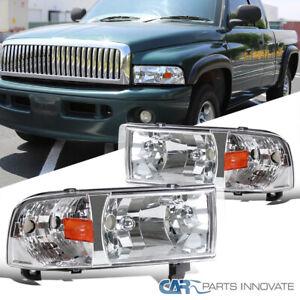 For 94-01 Dodge Ram 1500 2500 3500 Headlights+Corner Turn Signal Lamp Left+Right