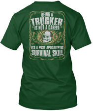 Trucker Career - One Mile At The Time Being A Is Not Hanes Tagless Tee T-Shirt