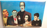 "Munsters Vintage Photo 2"" x 3"" Refrigerator Locker MAGNET Herman Grandpa Color"