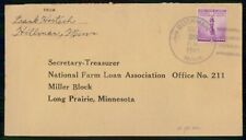 MINNESOTA BUCKMAN DECEMBER 29 1941 COVER TO LONG PRAIRIE NFLA OFFICE 211