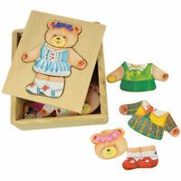 Bigjigs Toys Wooden Mrs Bear Dress Up Jigsaw Puzzle Chunky Mix Match