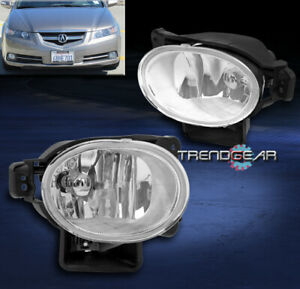 FOR 2007-2008 ACURA TL BASE TYPE-S BUMPER DRIVING FOG LIGHT LAMP CHROME W/BULB