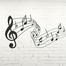 MUSICAL NOTES Wall Sticker, Self Adhesive Vinyl Wall art. Music themed XXL