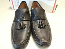 Nettleton Dark Brown leather loafers made in Italy Mens size 10 M