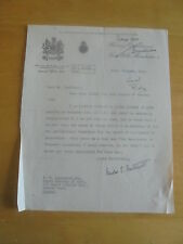 1939 SIR MILES EWART MITCHELL CITY OF   MANCHESTER  AUTOGRAPH LETTER