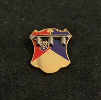 "🌟US Army 66th AR Armored Regiment DUI Unit Crest,  3/4"" Hat Lapel Pin"