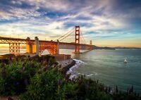 Golden Gate Bridge Poster Size A4 / A3 San Francisco Landscape Poster Gift #8905