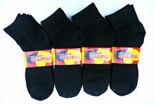 WOMENS 12 PAIRS!! 1/4 LENGTH SOCKS THIN HOME/FLOOR BLACK Size 9-11
