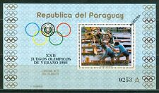 Paraguay Olympische Spiele Olympic Games 1980 MUESTRA Moscow block
