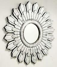 New Big Size Wall Mirror Frame In Unique Design Silver Foil Finish 90 x 90 cm