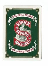 "Swap Playing Cards 1 VINT WIDE ADVT FOR "" SINGER SEWING MACHINES  "" LADY  AD44"