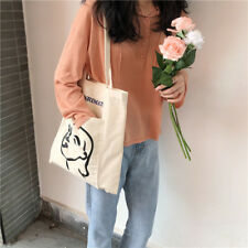 Outer pocket heavy duty 100% Cotton Shopping Canvas Shoulder Tote Bags Handbags