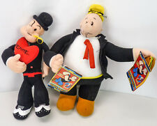 NEW Kelly Toy POPEYE the Sailor Man & Wimpy Valentines Stuffed Plush Toys 13""