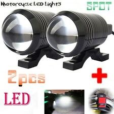 U1 LED Motorcycle Light Headlight Driving Fog Spot Lamp + Switch For Triumph