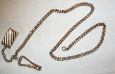 Antique Watch Chain with Locket Fob, Clip