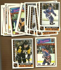 (20) 1986 & 1988 TOPPS HOCKEY STICKERS W /  LEMIEUX & GRETZKY   NM / MINT