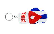 PORTACHIAVI pelle porta chiavi auto keychain Guantoni da boxe bandiera CUBA