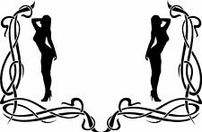 Sexy Women Naked Ladies Lady Tribal Scroll Car Van Window Truck Stickers #2