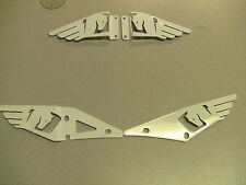 BUELL 1125 1125CR  WHITE  HEEL GUARDS 2002-2013   FULL  SET (FRONT AND BACK)