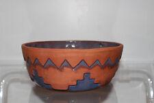 Made in USA TCC Handmade Purple Ceramic Pottery Bowl