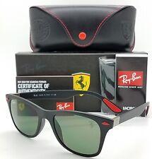 NEW Rayban Ferrari Wayfarer sunglasses RB4195MF F60271 52 Black Green AUTHENTIC