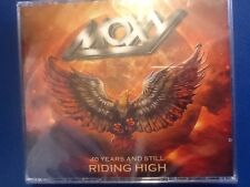 MOXY.           FORTY YEARS AND RIDING HIGH.                TWO CDS. PLUS. DVD.