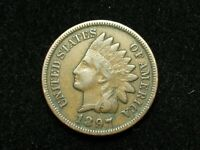 SPRING SALE!! XF 1897 INDIAN HEAD CENT PENNY w/ DIAMONDS & FULL LIBERTY #69e