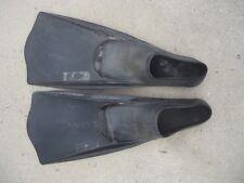 Dolphin Slip-on Non-adjustable 6-8 Black Fins Flippers