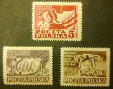 POLAND STAMPS Fi479-81 Sc445-47 Mi505-07 - Congress of the Union of the Working