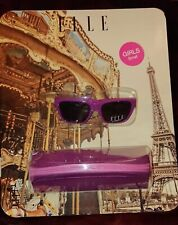 ELLE Girls Purple Sunglasses with Carry Case - Small - BRAND NEW