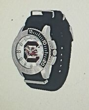 South Carolina Gamecocks Mens Starter Wristwatch Team Logo Dial Black Band NIB