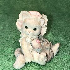 """Enesco Calico Kittens """"Love'S Special Delivery� Cat Figurine 628425"""