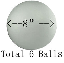"""8"""" (6 Balls) Smooth Polystyrene Foam Balls for Crafts and School Project Wedding"""