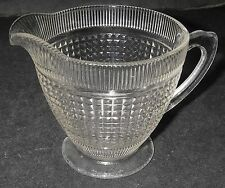 Canadian Depression Dominion Glass HIAWATHA Clear Creamer Footed square/verticle