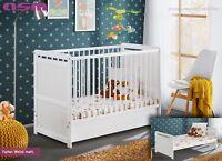 Babybett Kinderbett Gitterbett Beistellbett + Matratze + Schublade TIMMY 120x60