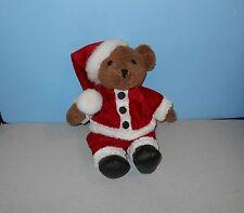 "14"" Kohair Teddy Bear in Santa Suit Christmas Stuffed Plush Animal by Fiesta"