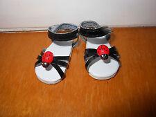 Chaussures sandale noire coccinelle poupée ma corolle vanille chocolat caramel