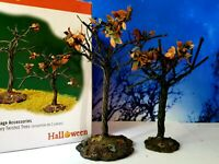 DEPT 56 Snow Village Hallowen SCARY TWISTED TREES Set of 2!  Spooky, Haunted