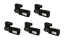 "5x 24V AC Solenoid Air Pneumatic Control Valve 3 Port 3 Way 2 Position 1/4"" NPT"