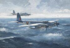 "De Havilland Mosquito Norwegian Aircraft Aviation Painting Art Print - 14"" Print"