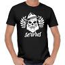 SERVUS Bayern Totenkopf Wiesn Oktoberfest Filzhut Skull Bavarian Beard T-Shirt