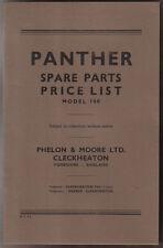 Modèle de moto PANTHER 100 unillustrated originale pièces de rechange liste de prix 1954