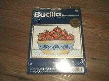1998 Bucilla 42033 STILL LIFE Strawberries Stamped Cross Stitch Kit NEW