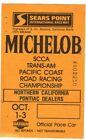 Sears Point Michelob Formula Racing Ticket Pace Car Pontiac Datsun