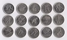 CANADA 2010 VANCOUVER WINTER OLYMPICS COMPLETE 15 COIN SET