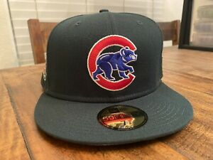 Chicago Cubs Evergreen 🌲 Icy ❄️ Blue UV  Wrigley Field New Era Fitted Hat 7 7/8