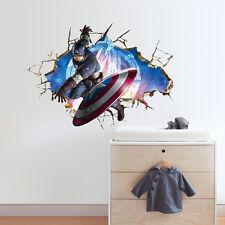 Marvel The Avengers Captain America 3D Wall Sticker Decal uk