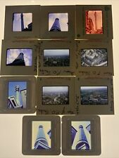 11 x PHOTO SLIDES.POST OFFICE TOWER,LONDON.BUILDING,VIEWS FROM.MOSTLY 1960's